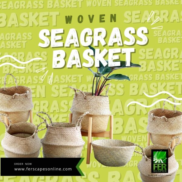 Buy Woven Seagrass Baskets at FER Scapes Landscaping Services, Inc.